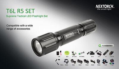 Nextorch T6LR5SET Supreme Tactical Hunting LED Flashlight Set