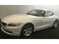 White BMW Z4 2.0 Petrol auto 2012 sDrive20i FROM £57 PER WEEK!