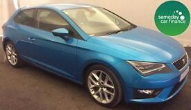 £244.26 PER MONTH 2014 Seat Leon 2.0TDI CR 184BHP S/S SportCoupe FR TechPack