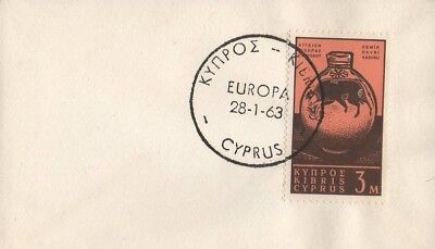 CYPRUS EUROPA STAMP 1963 MINIATURE FIRST DAY COVER FDC