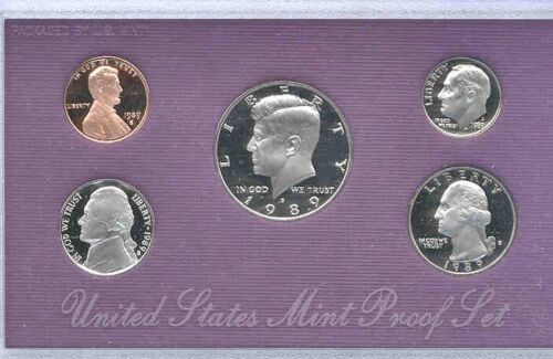 1989 S Deep Cameo Gem Proof Set