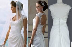 Elegant White Wedding Dress-Like New with accessories!!