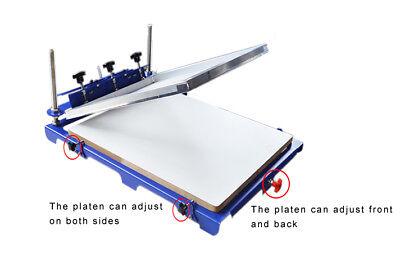 1 Color Screen Printing Printer 20 X 24 Pallet Silk Screen Printing Machine