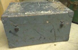 Wooden Chest/Box (ex equipment box ?) - shabby chic
