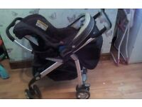 Silver cross 3D buggy with matching carseat
