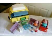Peppa pig campervan and car
