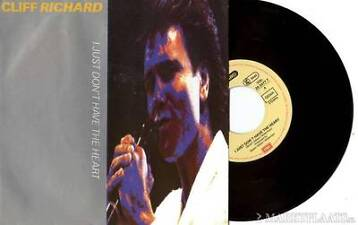 "CLIFF RICHARD - I Just Don't Have The Heart - 7"" Vinyl 1989"