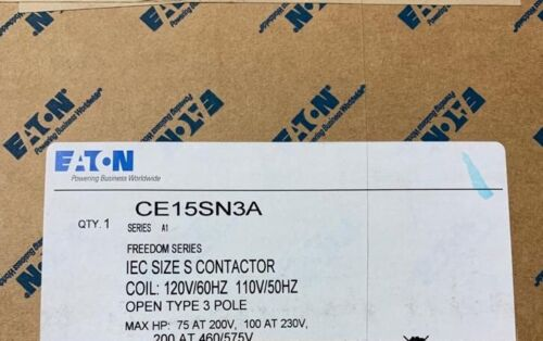 Eaton CE15SN3A freedom series IEC size S contactor NEW open 3 pole