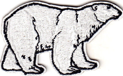Polar Bear Iron On Embroidered Patch Animals Arctic Zoo  - Zoo Animal Crafts