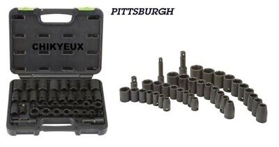 37PC SAE METRIC Impact Socket Set 3/8