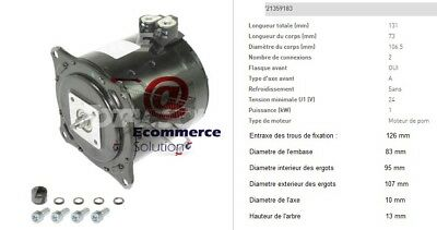Engine Hydraulic Pump 24v 1 Kw Linde Ecia Hpi Pallet Truck Electric T18