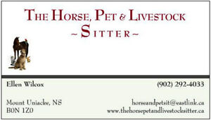 Trustworthy farm, horse, dog, pet, or livestock sitter available