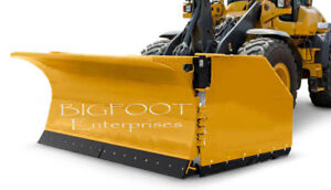 Skid Steer, Tractor Wheel Loader Snow Blades and Snow Pushers