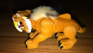 Imaginext Sabre Tooth Tiger Thorn Toy Figure Action Lever