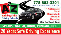 """Driving School, Serving Lower main Land """"A 2 Z"""" Driving Skills"""