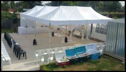 Commercial Marquees / Gazebos from $ 39, tables $6, chairs $1