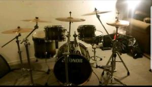 8 piece drum kit Sonor maple