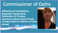 COMMISSIONER OF OATHS ~ FAST & MOBILE SERVICE ~ $25