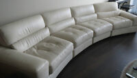 Mobilia Leather Couch for Sale.