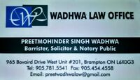 LAWYER(Litigation, Immigration, Real Estate)Ph: 905-781-5541