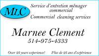 Commercial cleaning services Service d'entretien ménager commerc