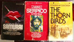 3 BEST SELLER POCKET BOOKS (SERPICO, SAMURAI, THORN BIRDS)