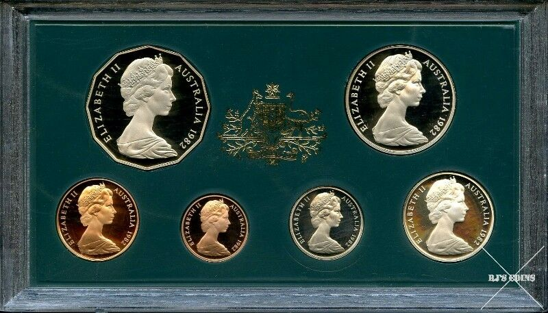 Australian 1982 Proof 6 Coin Year Set from the Royal Australian Mint–XII Commonwealth Games Brisbane