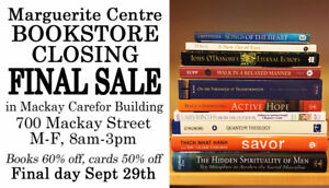 Marguerite Centre Bookstore Final Sale