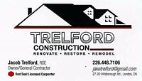 **Red Seal Licensed Carpenter / Trelford Construction / Renos**