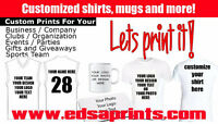 Personalized Shirts, mugs and more! For Less!!!