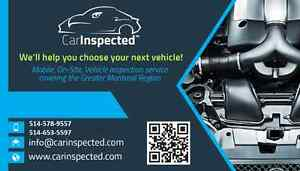 in the market for a used vehicle? call Car Inspected
