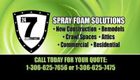 24/7 Construction now offering Spray Foam Insulation