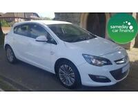 ONLY £165.72 PER MONTH WHITE 2014 VAUXHALL ASTRA 1.4 EXCITE 5 DOOR PETROL MANUAL