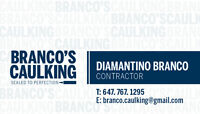 BRANCO'S CAULKING, SEALED TO PERFECTION CALL FOR A FREE ESTIMATE