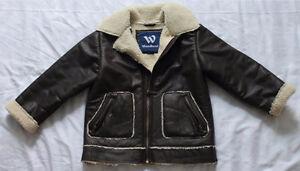 "Boys WOODLAND ""Sheepskin"" Winter Jacket size 7"