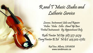 Fine Quality New and Used Violins, Cellos, Bows and    Lessons