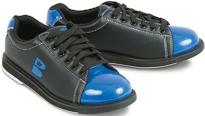 Mens Brunswick TZone Bowling Shoes Black/Blue Sizes 6 -15