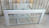 3 Tier Glass TV STAND Flat Screen MEDIA Stand ENTERTAINMENT UNIT