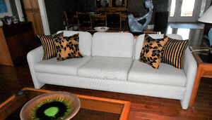 Modern couch, loveseat and chair