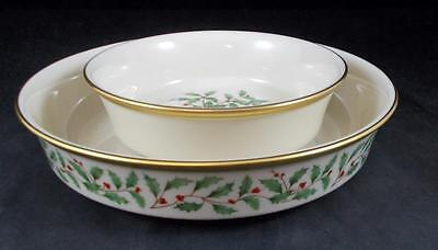 Lenox HOLIDAY Fruit Bowl and Coupe Soup Bowl  (Dimension shape) LIGHT USE Lenox Holiday Fruit Bowl