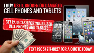 SELL YOUR PHONE FOR $ FAST - I Pay Cash For Used + Broken Phones