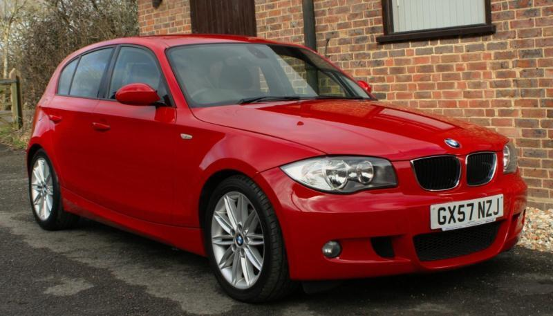 2008 bmw 118d 2 0 m sport in bright red 70000 miles full service history in horsham west. Black Bedroom Furniture Sets. Home Design Ideas