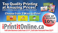 CHEAP PRINTING- BUSINESS CARDS, FLYERS, POSTCARDS, BROCHURES