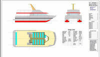 Henely 58' x 24' fast catamaran ferry