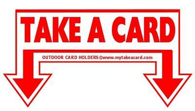 Outdoor Decal Sticker Take A Card For Business Card Holders Or Brochure Displays