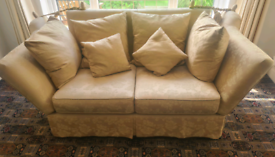 Knole 2 seater drop side sofa and matching chair