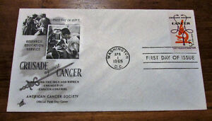 1965 'Crusade Against Cancer' 5 Cent First Day Cover Kitchener / Waterloo Kitchener Area image 1
