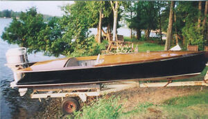1956 Peterborough Antique wood boat, mahogany speedboat