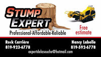 Stump Removal / Service d'essouchage