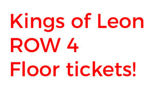 Kings of Leon Calgary Row 4 Floor Tickets (pair) October 14th